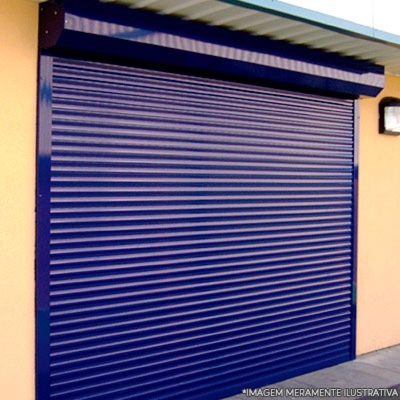 Loja de Porta de Enrolar Horizontal Vila Lusitânia - Porta Comércio Enrolar