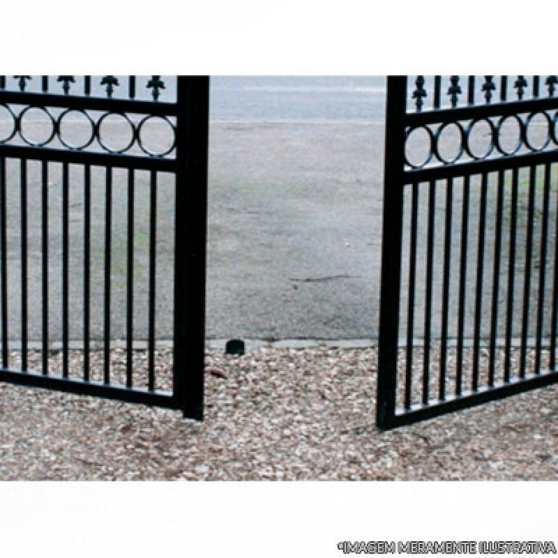 Portão Automático Duas Bandas Jardim Vila Carrão - Portão Automático em Aço