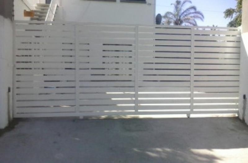 Portão de Aço Galvanizado Jardim Ana Maria - Portão Aço