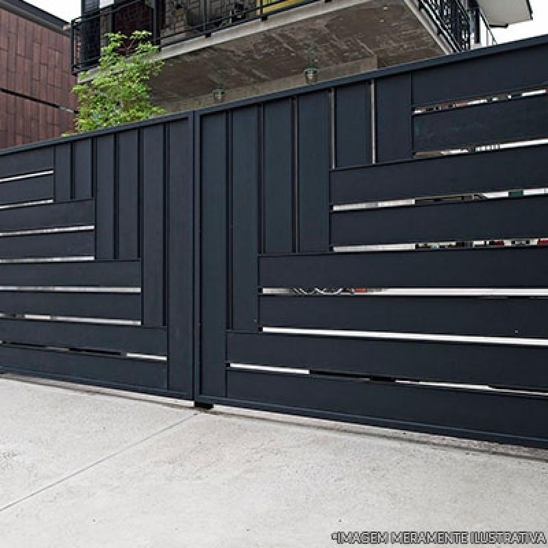 Portão de Aço para Garagem Jardim Utinga - Portão de Aço Galvanizado