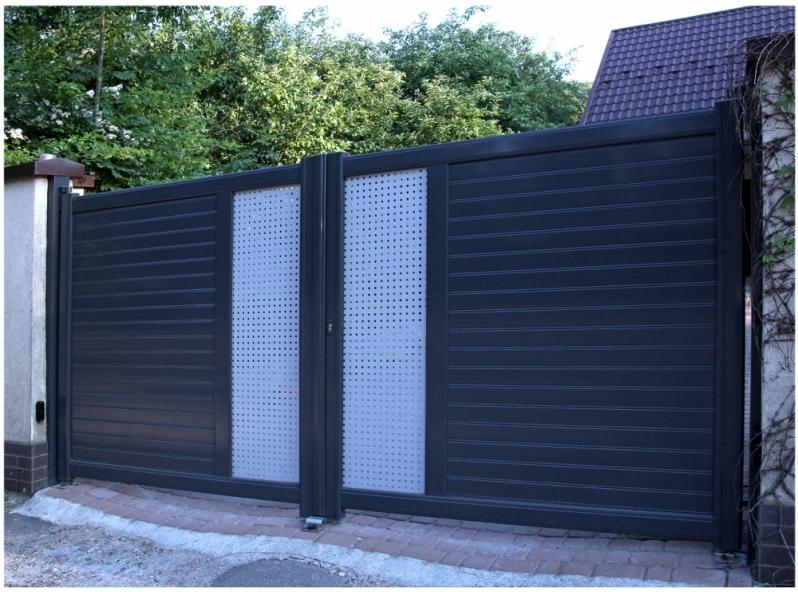 Portão em Aço Galvanizado Valor Jardim Cinco de Julho - Portão Garagem Aço