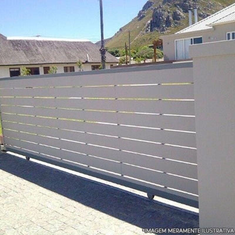 Portão em Aço Valor Capuava - Portão de Aço para Garagem