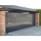 comprar portão de aço para garagem Vila Bocaina