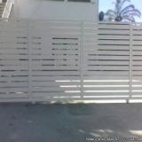 portão automático branco São Caetano do Sul