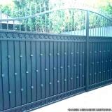 portão automático duas bandas preços Jardim Pilar
