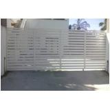 portão de aço galvanizado Vila Apiaí