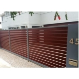 portão de aço para garagem valor Piraporinha