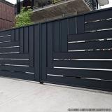 portão de aço para garagem